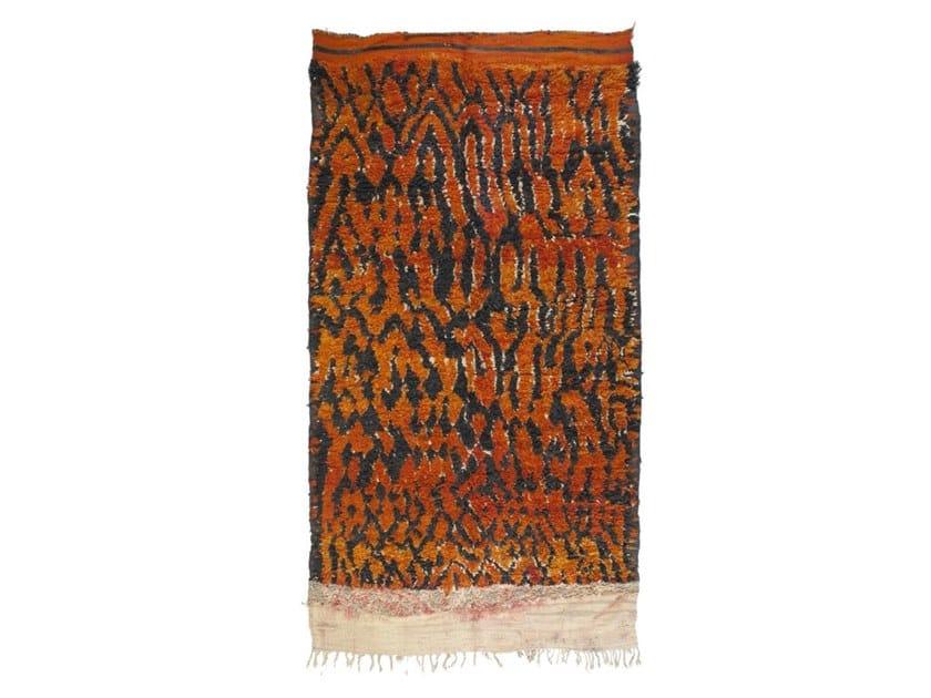 Long pile rectangular wool rug TALSENT TAA1200BE by AFOLKI