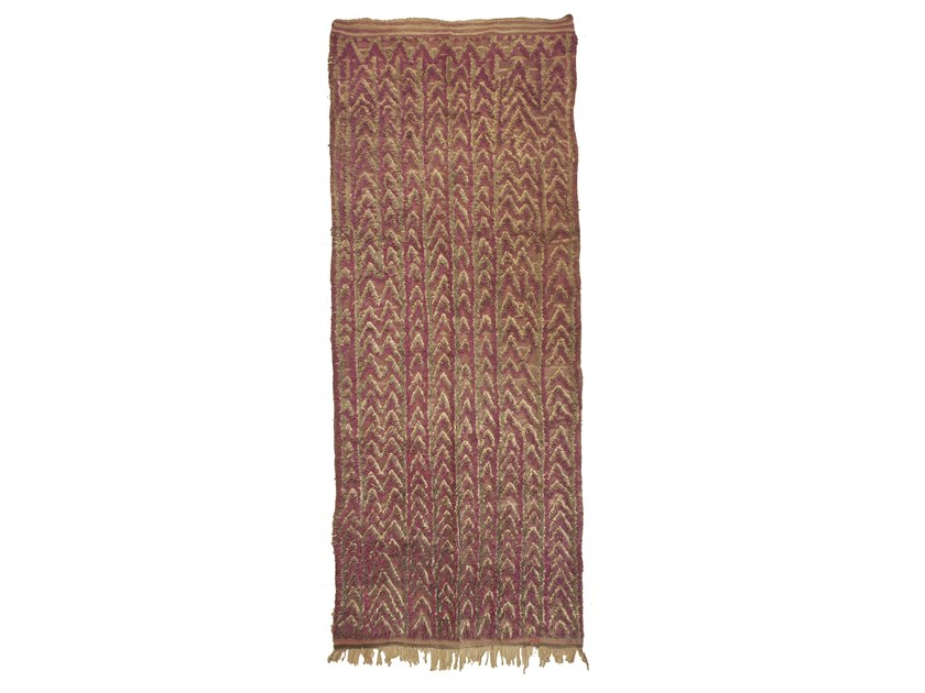 Patterned long pile rectangular wool rug TALSENT TAA1235BE by AFOLKI