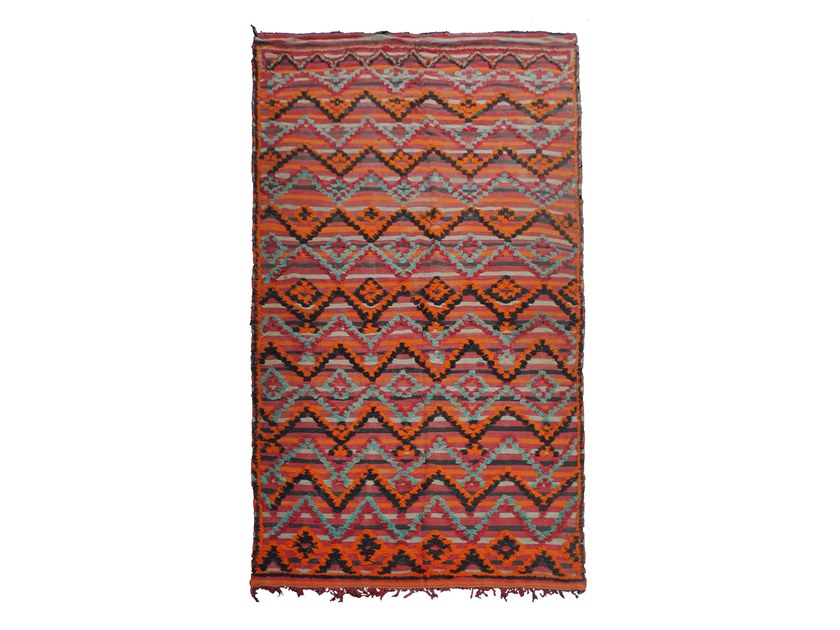 Patterned rectangular wool rug TALSENT TAA99BE by AFOLKI