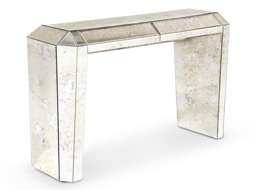 Rectangular mirrored glass console table with drawers TAMARA | Console table by KOKET
