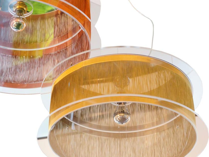 Lampada a sospensione in tessuto metallico TAMARI | Lampada a sospensione by Placidia