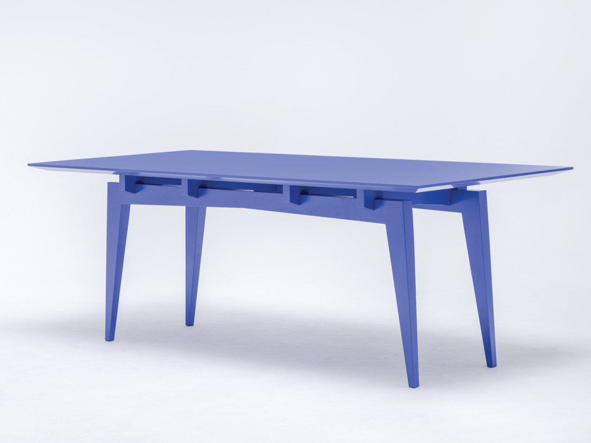 Lacquered rectangular solid wood dining table TAMAZA COLOUR by ST FURNITURE