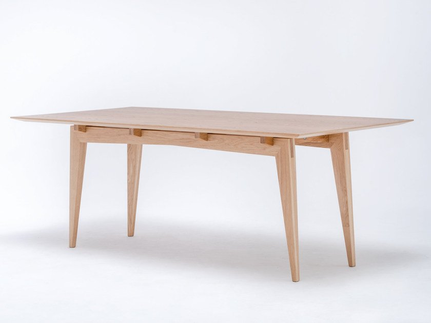 Rectangular solid wood dining table TAMAZA by ST FURNITURE