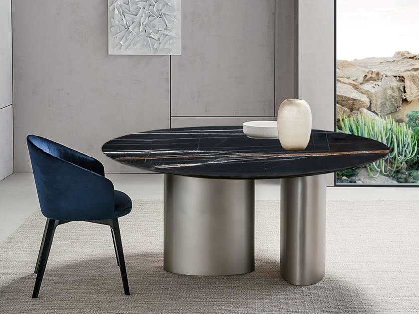 Round marble dining table TANGERI | Round table by Casamilano