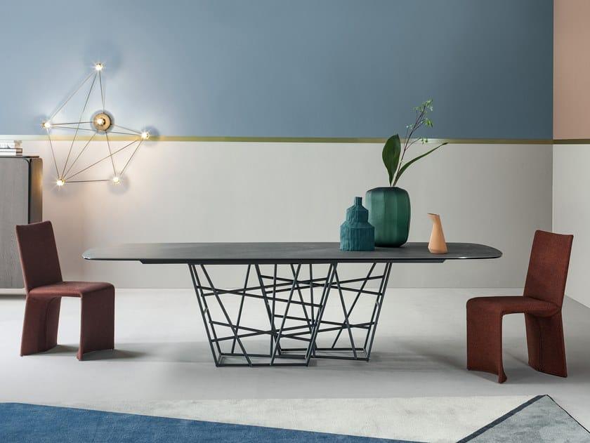 Rectangular marble table TANGLE | Marble table by Bonaldo
