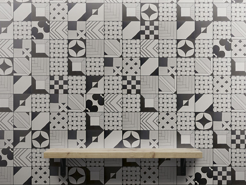 Indoor glazed stoneware wall tiles TANGLE | Wall tiles by ORNAMENTA