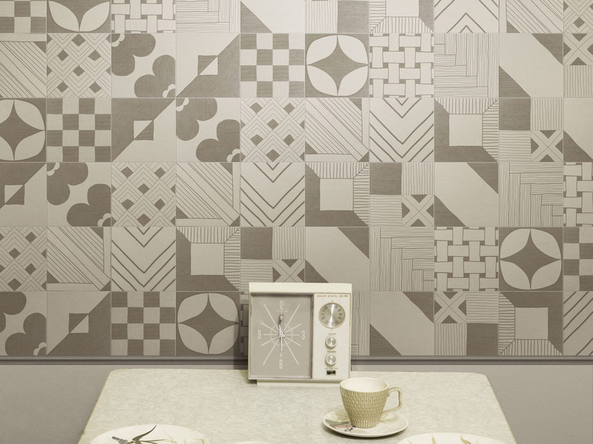 Indoor glazed stoneware wall tiles TANGLE WARM | Wall tiles by ORNAMENTA