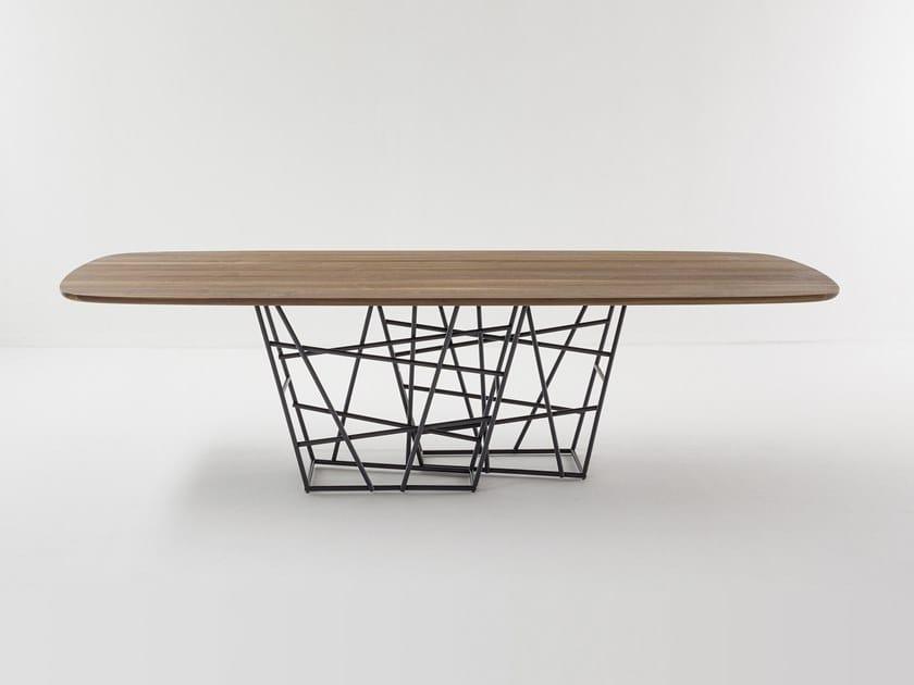 Rectangular wooden table TANGLE | Wooden table by Bonaldo
