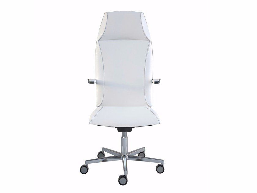 High-back executive chair with 5-spoke base TAO | High-back executive chair by MASCAGNI