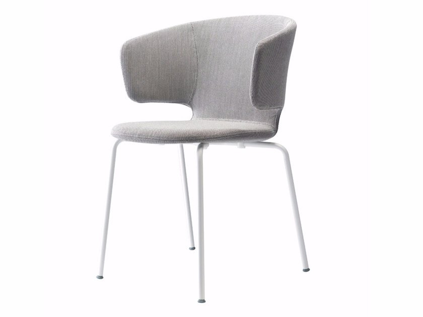 Stackable chair with removable cover with armrests TAORMINA CHAIR - 503 by Alias