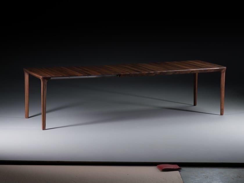 Extending solid wood table TARA by Artisan