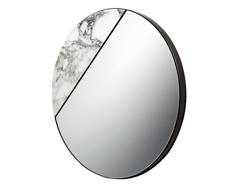 Wall-mounted marble mirror TAREG by Visionnaire