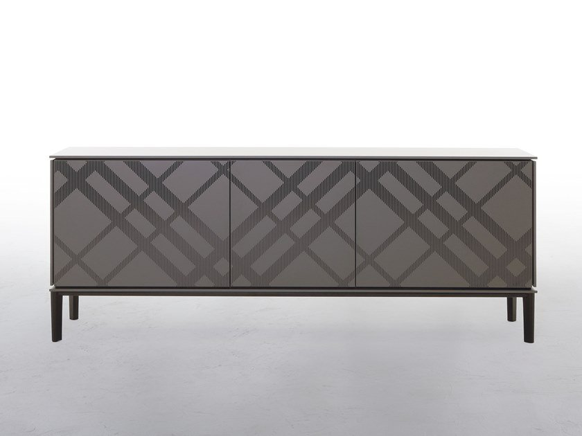 Wooden sideboard TARTAN by Tonin Casa