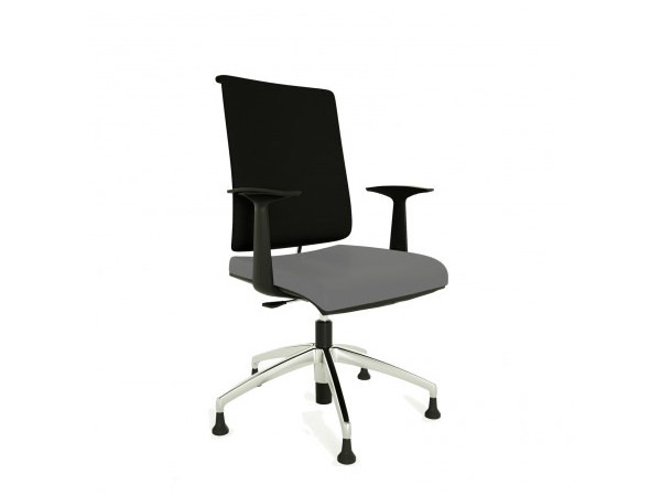 Swivel task chair with 5-Spoke base with armrests ZERO7 EVO | Task chair by Ares Line