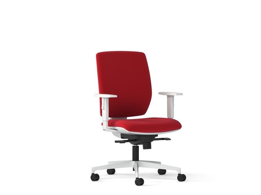 Swivel task chair with 5-Spoke base MIRAI WHITE   Task chair by Arte & D