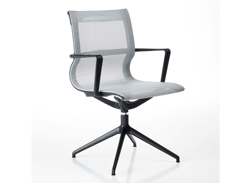 Trestle-based mesh task chair with armrests LIBERTY | Task chair by Diemme