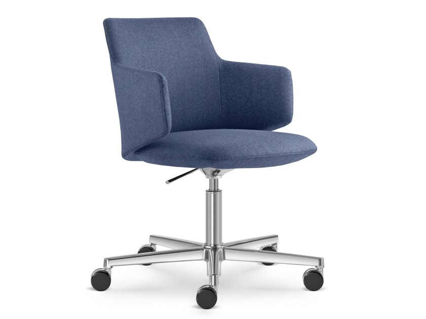 Fabric task chair with 5-Spoke base MELODY MEETING | Task chair by LD Seating