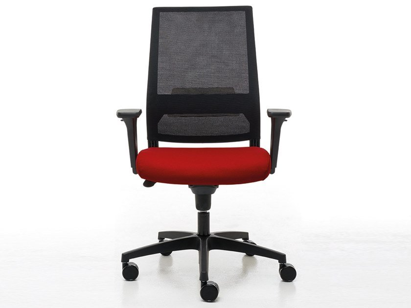 Task chair with 5-Spoke base with castors LOGICA | Task chair by Linea Fabbrica