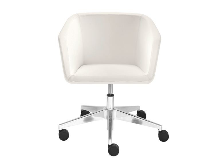 Amazing Height Adjustable Leather Task Chair With 5 Spoke Base MEG | Task Chair By