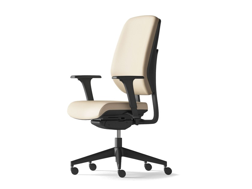 Task chair with 5-Spoke base with armrests KALISTA | Task chair with armrests by Arte & D