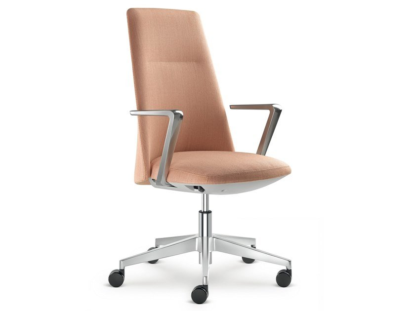 Fabric task chair with 5-Spoke base with armrests MELODY DESIGN | Task chair with armrests by LD Seating