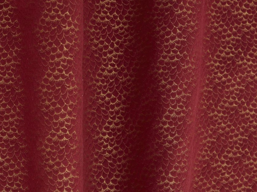 Cotton and linen fabric ECAILLE DE CHIN by LELIEVRE