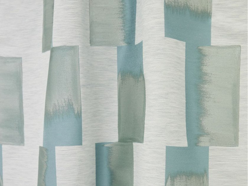 Check viscose fabric LHASSA by LELIEVRE