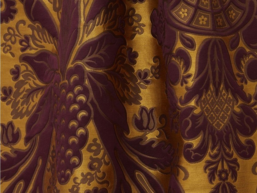 Tessuto damascato in seta e lino TASSINARI & CHATEL - MONCEAU by LELIEVRE