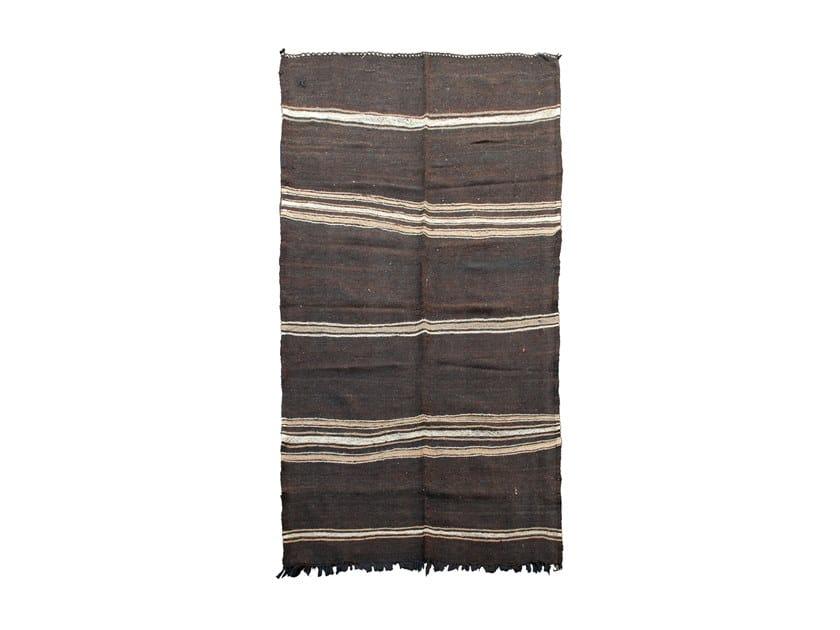 Rectangular striped wool rug TATA TA61BE by AFOLKI