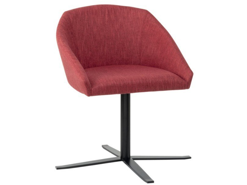 Swivel fabric chair with 4-spokes metal base TATI SE01 BASE 24 by New Life
