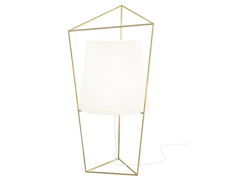 Lampe de table en verre opale TATU by KUNDALINI