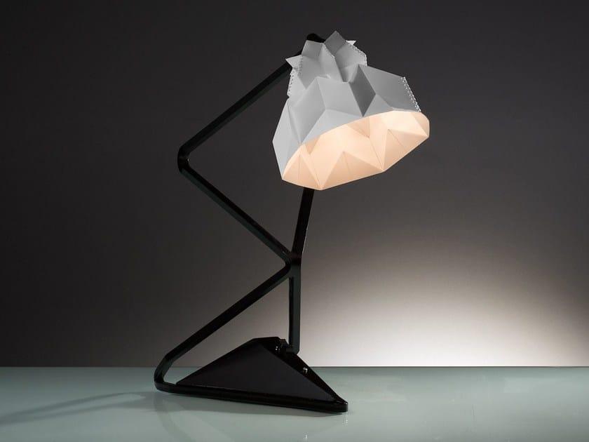 Handmade plastic table lamp TAU CETI by JavyDesign