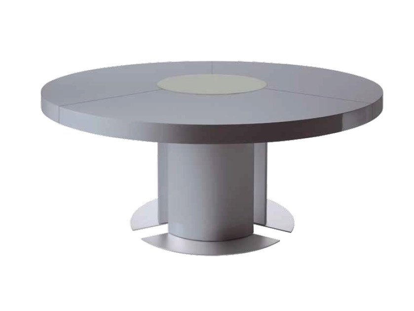 Lacquered round meeting table TAU | Round meeting table by ARTOM by Ultom