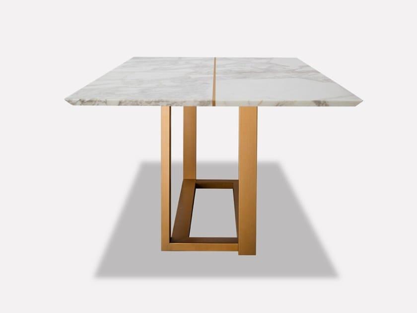 Rectangular marble dining table TAVOLATA ROYAL by MORADA