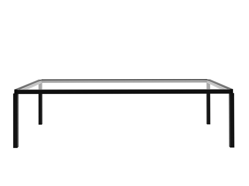 Rectangular glass coffee table TAVOLO ZERO 800 - Z01 by Alias