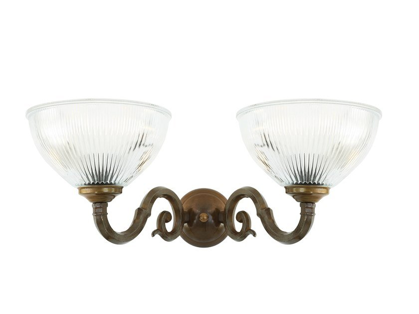 Indirect light brass wall light TAWAU-Clear by Mullan Lighting