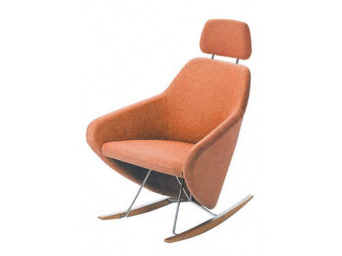 Rocking fabric armchair with armrests with headrest TAXIDO | Armchair by Segis