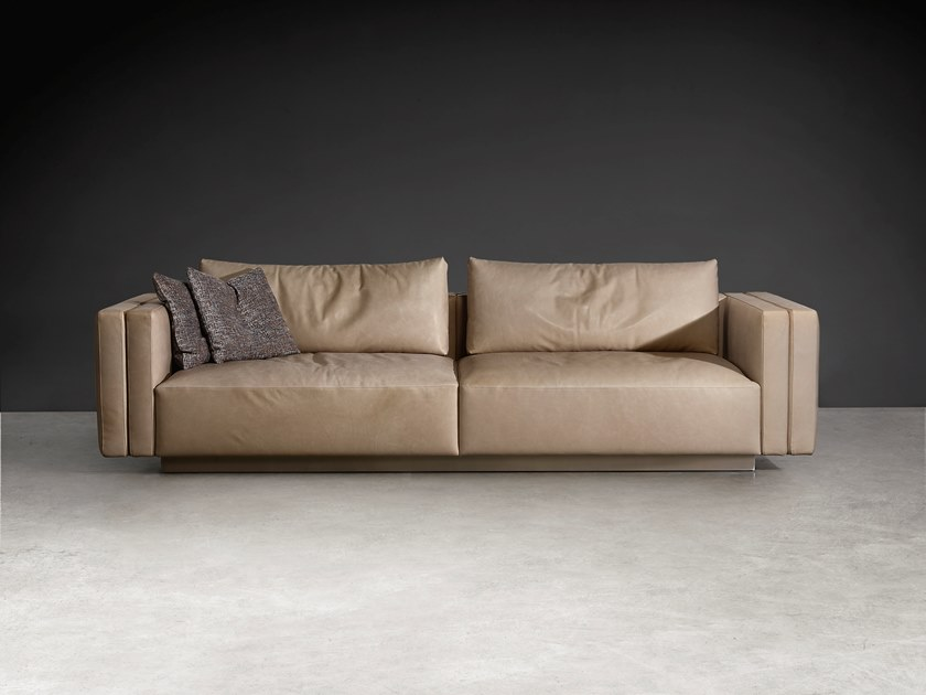 Beau 3 Seater Leather Sofa TAYLOR | 3 Seater Sofa By Visionnaire