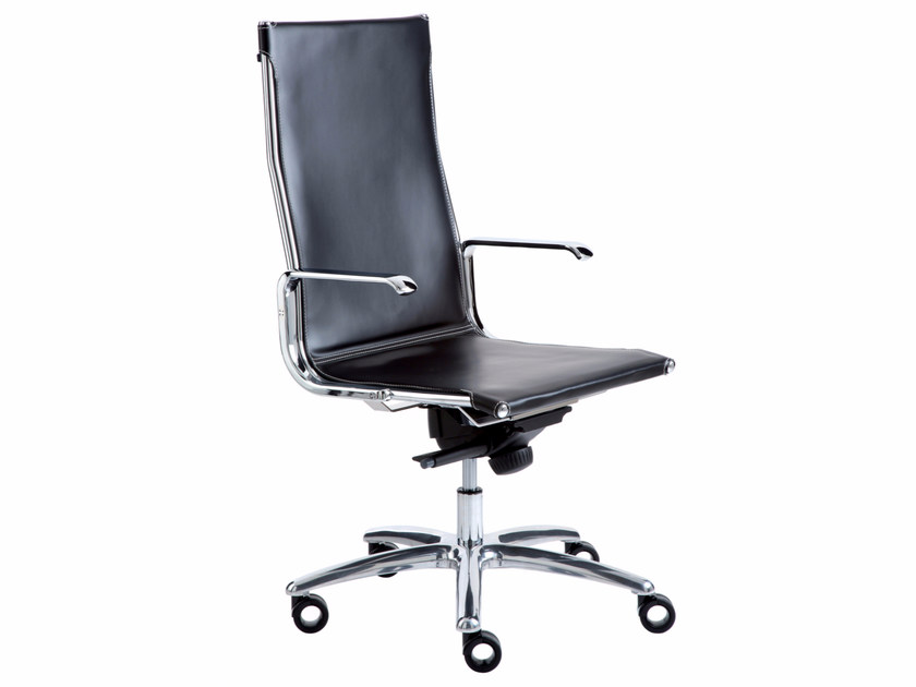 Executive chair with 5-spoke base with casters TAYLORD FLAT | Executive chair by Luxy
