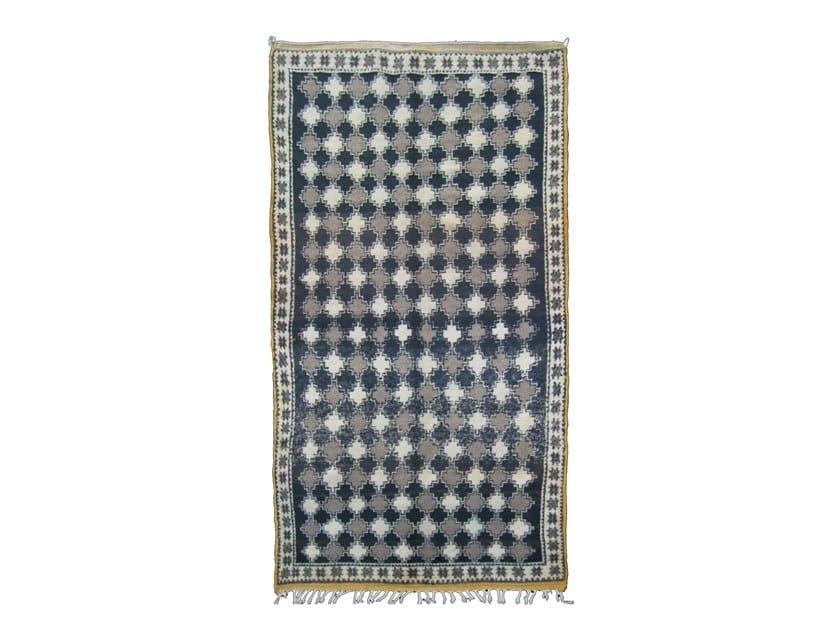 Rectangular wool rug with geometric shapes TAZENACHT TA535BE by AFOLKI
