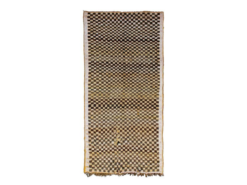 Rectangular wool rug with geometric shapes TAZENACHT TAA227BE by AFOLKI