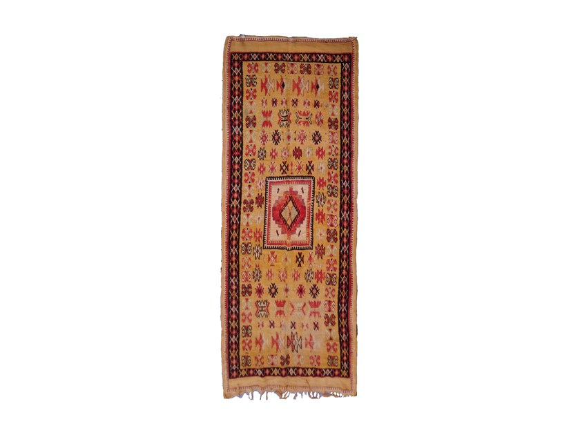 Patterned rectangular wool rug TAZENACHT TAA49BE by AFOLKI