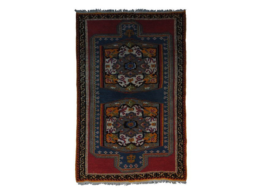 Patterned rectangular wool rug TAZENACHT TAA500BE by AFOLKI