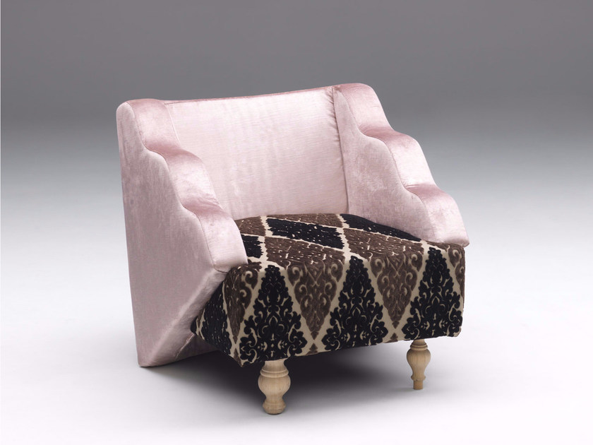 Upholstered fabric easy chair BIRICHINA by Paolo Castelli