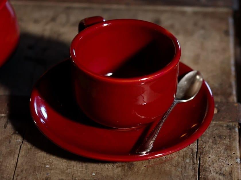 Ceramic tea cup with saucer IL GRANCOLORE | Tea cup by Cerasarda