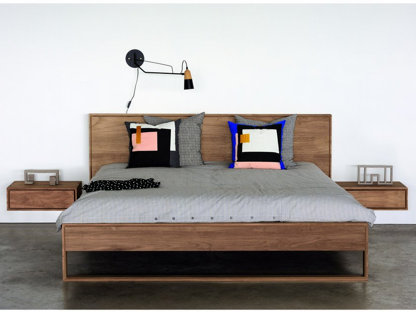 Teak double bed TEAK NORDIC II BED by Ethnicraft
