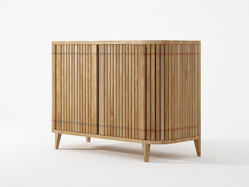 Madia in teak con ante a battente KOPPAR | Madia in teak by KARPENTER