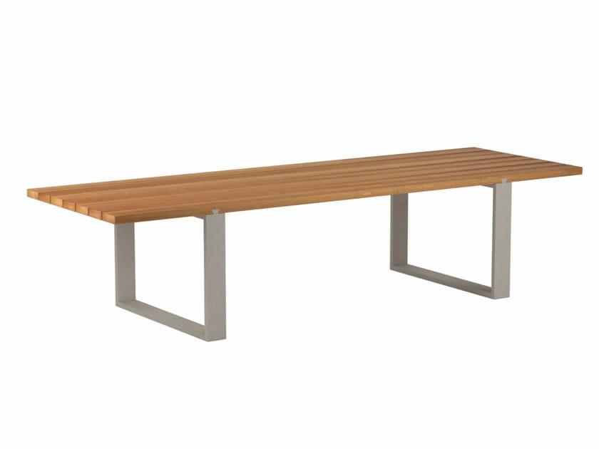 Rectangular teak garden table VIGOR | Teak table by Royal Botania