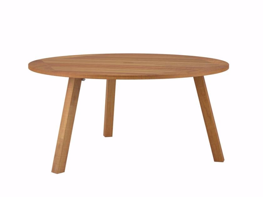 Round teak garden table DISCUS | Teak table by ROYAL BOTANIA