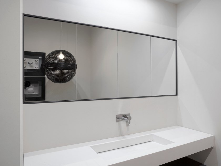 Pensile bagno con specchio teatro by antonio lupi design - Pensile specchio bagno ...